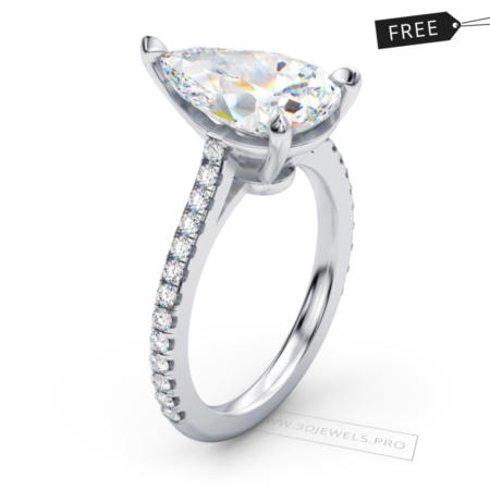 eternal-pear-ring-free-3d-jewelry-model-(FREE)-image-1