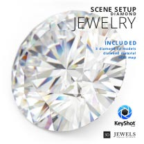 KeyShot Scene Setup For Jewelry Diamonds Renderings