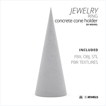 Jewelry-ring-concrete-cone-holder-3d-model-Image1