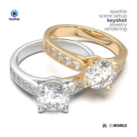 Sparkle-Scene-Setup--KeyShot-Jewelry-Rendering-IMG1