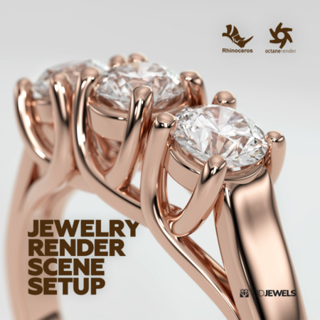 Rhinoceros Octane Render Jewelry Realistic Render Scene Setup 02